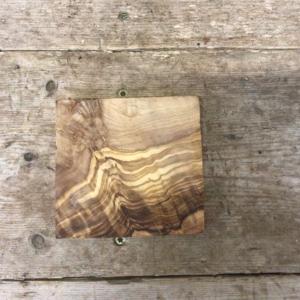 Olive Wood Blank 13 x 13 x 2cm